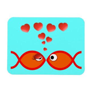 Christian Valentine Orange v2 Rectangular Photo Magnet