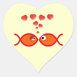 Christian Valentine Orange v2 Heart Sticker