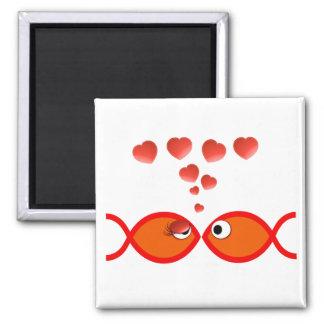 Christian Valentine Orange v2 Square Magnet