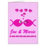 Christian Valentine Pink v1 Greeting Card