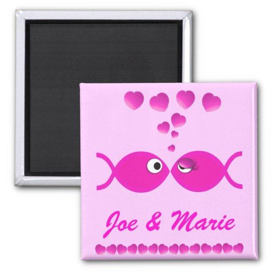 Christian Valentine Pink v1 Square Magnet
