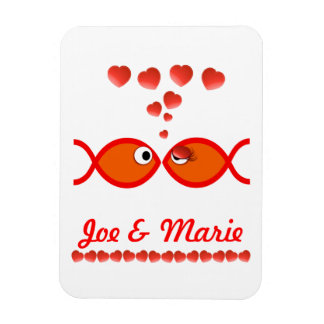 Christian Valentine Symbols - Orange v1 Rectangular Photo Magnet