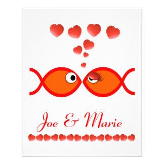 Christian Valentine Symbols - Orange v1 Flyer Design