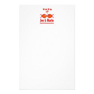 Christian Valentine Symbols - Orange v1 Custom Stationery
