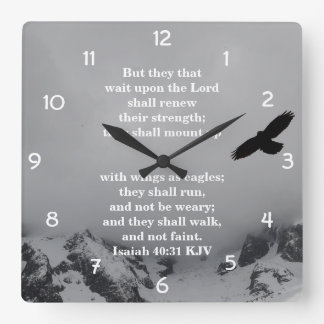 Christian Wall Clock - Isaiah 40:31