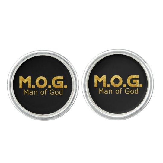 Christian Warrior Gold M.O.G. (Man of God) Cufflinks