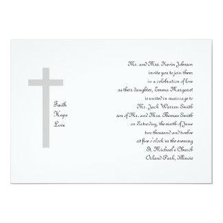 Christian Wedding Faith Hope Love Cross 2 Card