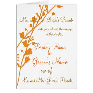 Christian Wedding Invitation Change card color