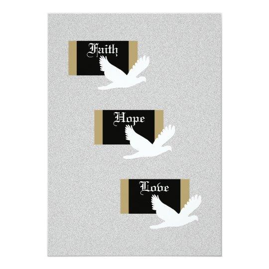 Christian Wedding Invitation -- Faith, Hope & Love