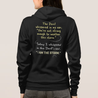 Christian Woman Hoodie Whispered in Devil's ear