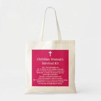 Christian Woman's Survival Kit Budget Tote Bag