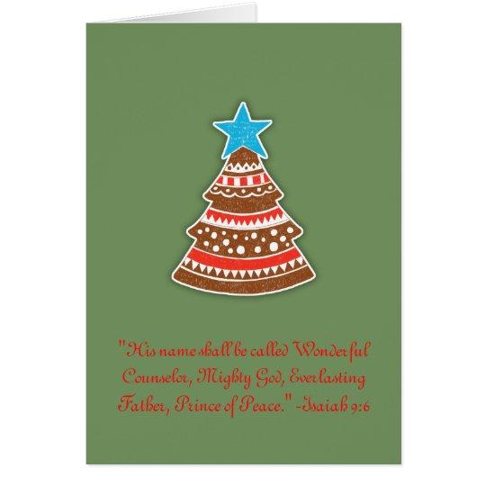 Christian Wonderful Counsellor Christmas Card