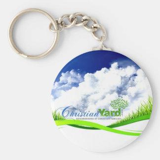 Christian Yard Basic Round Button Key Ring