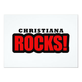 Christiana, Alabama City Design 13 Cm X 18 Cm Invitation Card