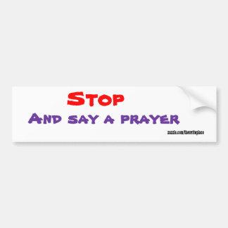 Christianbumper stickers-say a prayer bumper sticker