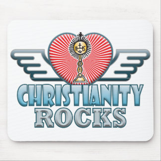 Christianity B Rocks Mouse Pad