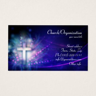 Christianity - Blue Shimmering Cross Business Card