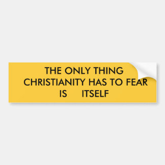 CHRISTIANITY BUMPER STICKERS
