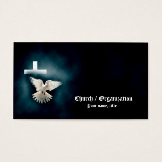 Christianity-Religious Dove & Cross Business Card