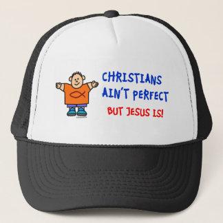 Christians Ain't Perfect Trucker Hat