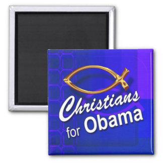 Christians for Obama Magnet (fish/blue)