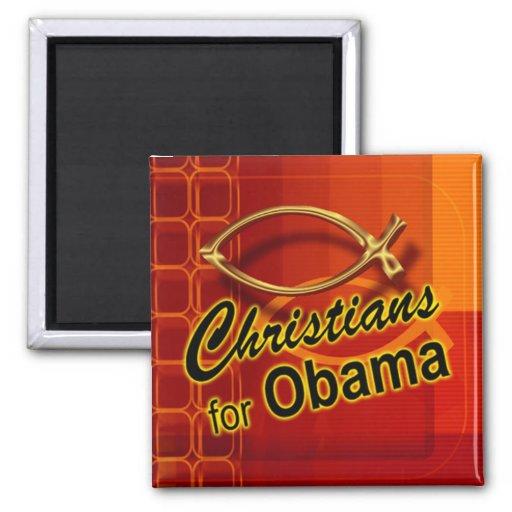 Christians for Obama Magnet (fish/orange)
