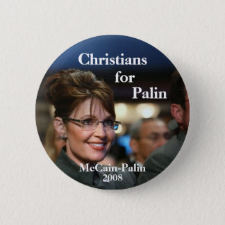 Christians, for, Palin 6 Cm Round Badge