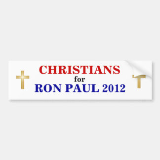 CHRISTIANS for PAUL 2012 sticker Bumper Sticker