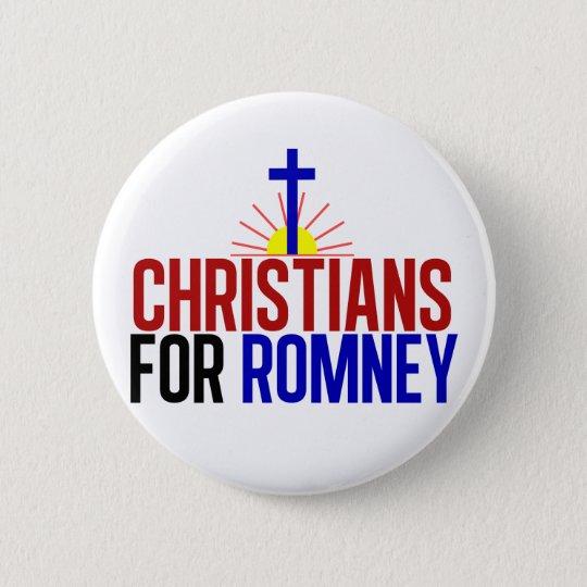Christians for Romney 6 Cm Round Badge