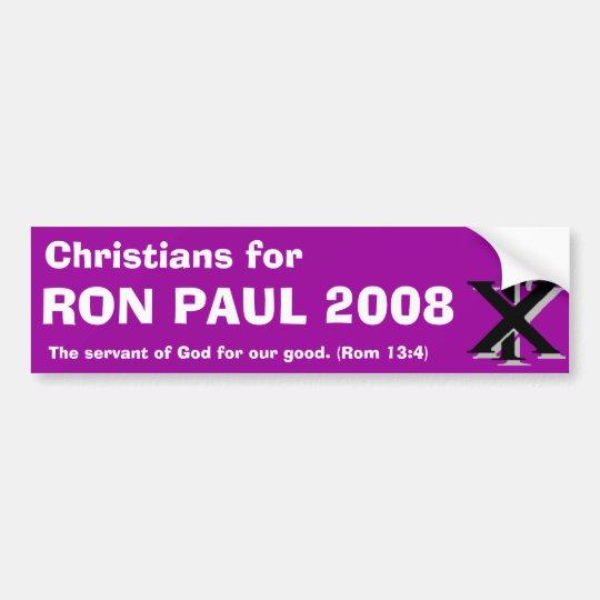 Christians for Ron Paul Bumper Sticker