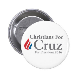 CHRISTIANS for Ted Cruz president button! 6 Cm Round Badge