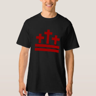 Christians In DC - Three Crosses & The DC Flag T-Shirt