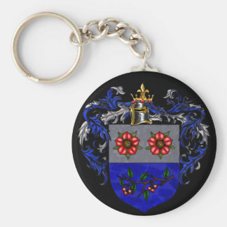 Christiansen Coat of Arms Basic Round Button Key Ring