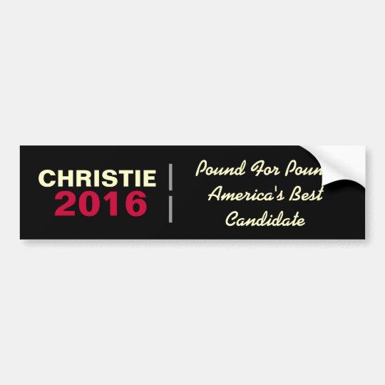 CHRISTIE 2016 Pound For Pound Bumper Sticker