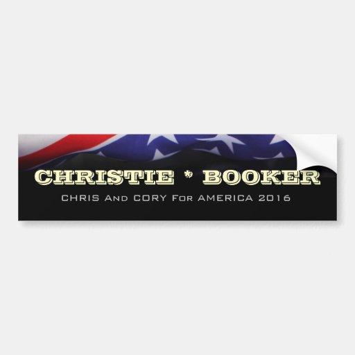 Christie / Booker 2016 Campaign Bumper Sticker