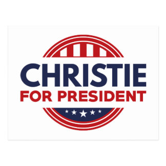 Christie For President Postcard