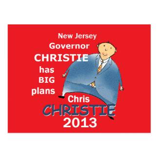 Christie Governor 2013 Postcard