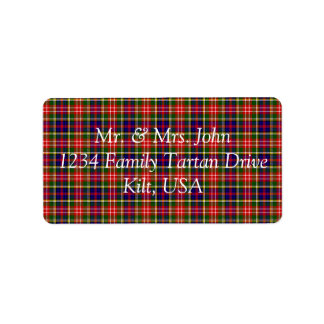Christie Tartan Label Address Label