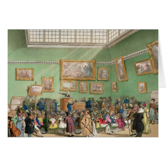 Christie's Auction Room, aquatinted by J. Bluck Card