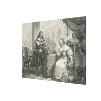 Christina (1626-89) Queen of Sweden, from a series Canvas Print