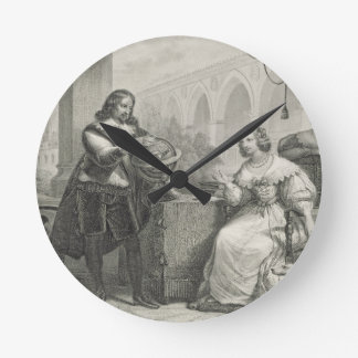 Christina (1626-89) Queen of Sweden, from a series Round Clock
