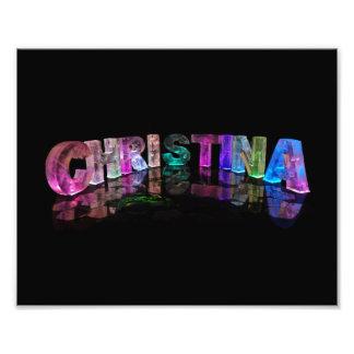 Christina - Modern Names in 3D Lights Photograph