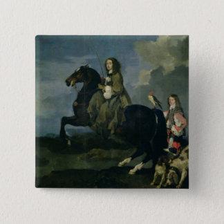 Christina of Sweden (1626-89) on Horseback, 1653 ( 15 Cm Square Badge