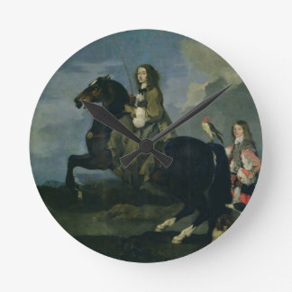 Christina of Sweden (1626-89) on Horseback, 1653 ( Round Clock