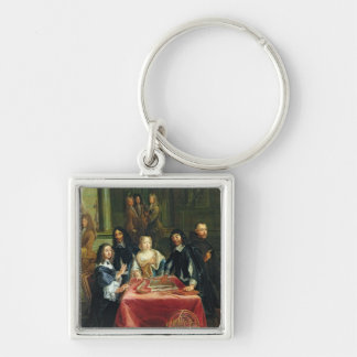 Christina of Sweden and her Court: detail of Key Ring