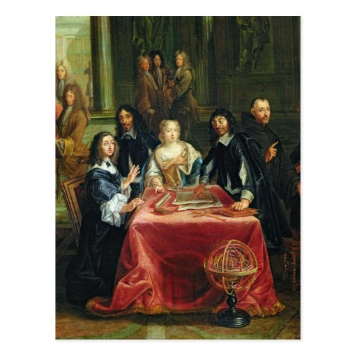 Christina of Sweden and her Court: detail of Post Cards