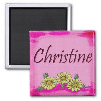 Christine Daisy Christine Square Magnet