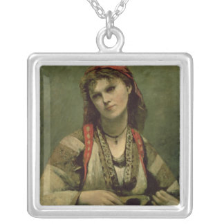 Christine Nilson  or The Bohemian with a Silver Plated Necklace
