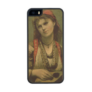 Christine Nilson  or The Bohemian with a Wood iPhone SE/5/5s Case