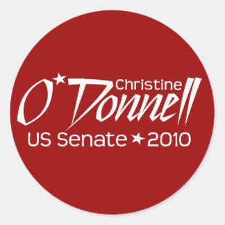 Christine O'Donnell Senate 2010 - Delaware Classic Round Sticker
